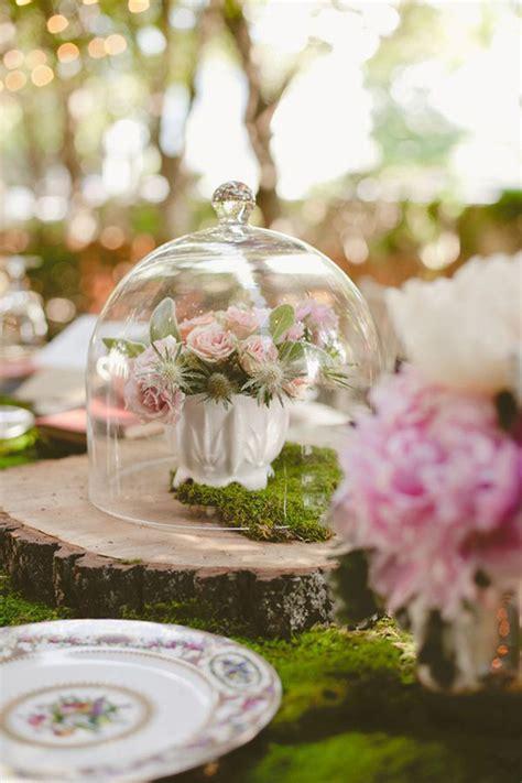 simply breathtaking cloche  bell jar decorating