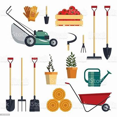 Tools Farm Garden Vector Shovel Instruments Illustration