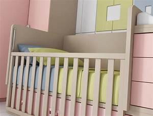 Chambre bébé fille avec un lit jumeaux évolutif GLICERIO SO NUIT