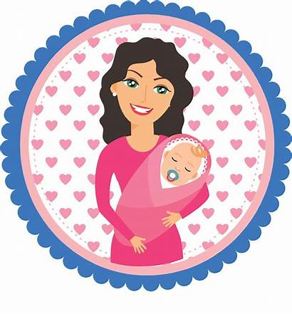 Mother Mom Holding Mommy Child Clipart Circle