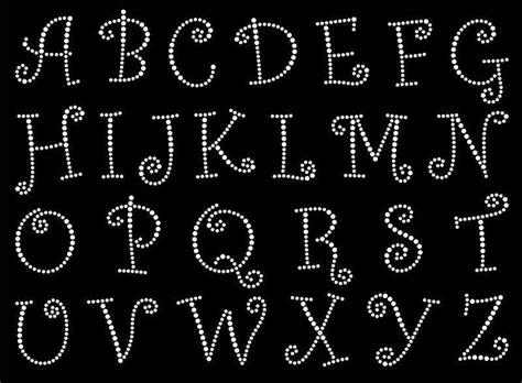 curlz font alphabet letters rhinestone bling