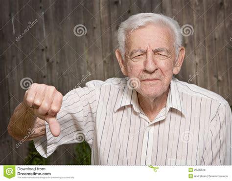 Grumpy Old Man Vector Illustration