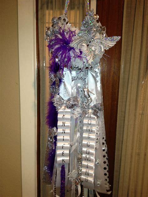 homcoming mums silver purple senior homecoming mum mums pinterest homecoming mums homecoming and purple