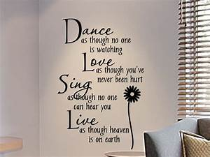 Quote wall stickers for bedrooms : Wall decals for teens girls bedroom decal dance as