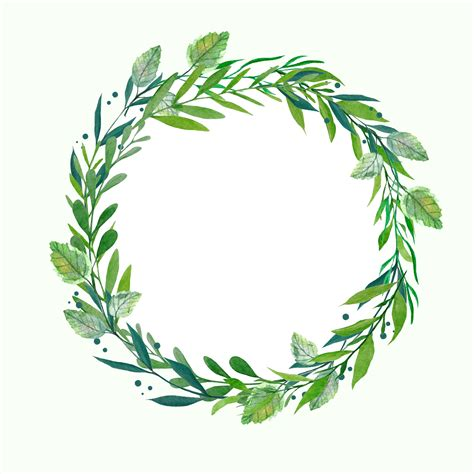 greenery wreath watercolor wreath botanical wreath wedding clipart wedding wreath green