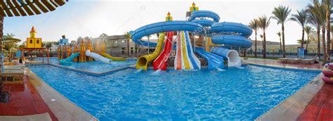 Panorama Aquapark Sliders, Aqua Park, Water Park — Stock