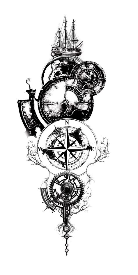 Pin by Richard Lewis on Tattoos | Clock tattoo design