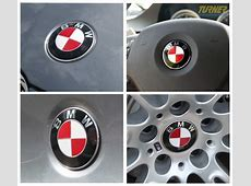 BMW Roundel Decal Emblem Covers Black, Red, Pink