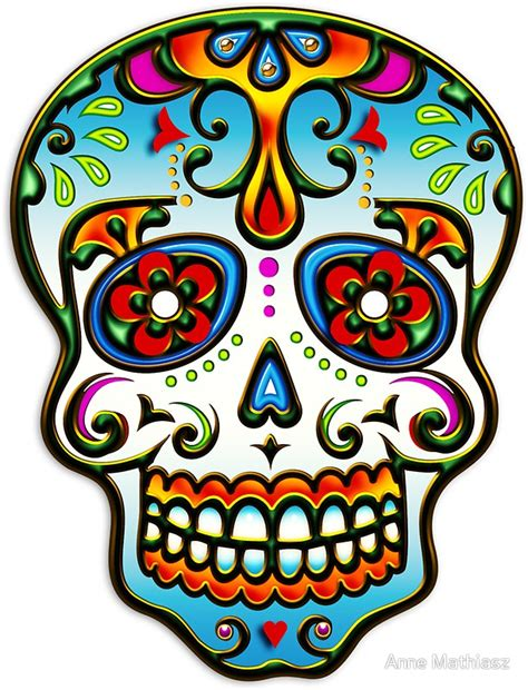 quot sugar skull day of the dead dias de los muertos quot stickers by nitty gritty redbubble
