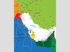 Persian Gulf Region Map Royalty Free Stock Images Image