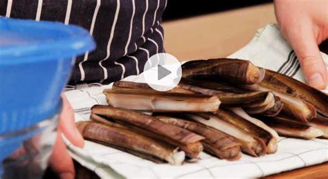 astuce cuisine comment cuisiner des couteaux de mer vid 233 o