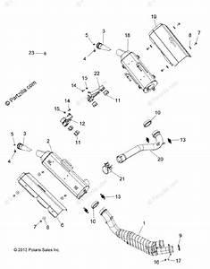 Polaris Atv 2015 Oem Parts Diagram For Engine  Exhaust