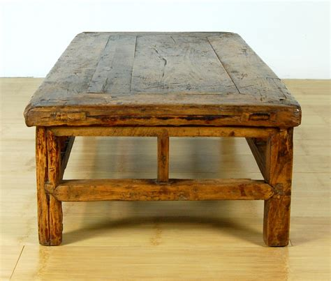 Antique Rustic Coffee Table Wood Stand Altar Display