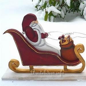 Weihnachtsbasteln Aus Holz : basteln mit holz weihnachtsmann rentiere und schlitten ~ Orissabook.com Haus und Dekorationen