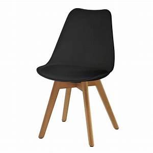 Chaises Alinea Salle A Manger : chaise scandinave noire lot de 2 koya design ~ Teatrodelosmanantiales.com Idées de Décoration