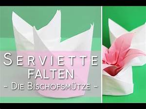 Servietten Falten Bischofsmütze : servietten falten bischofsm tze falten anleitung youtube ~ Yasmunasinghe.com Haus und Dekorationen