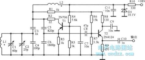 Colpitts Oscillator With Adjustable Frequency