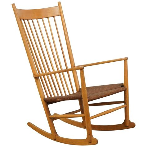 vintage rocking chair with rope seat at 1stdibs