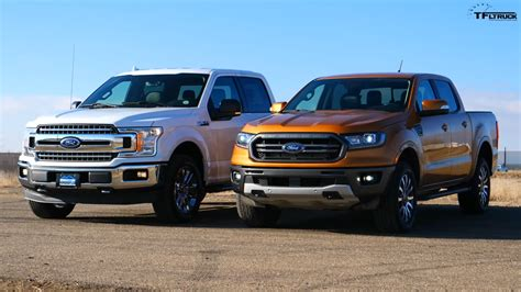 ford ranger   visual comparison  ford