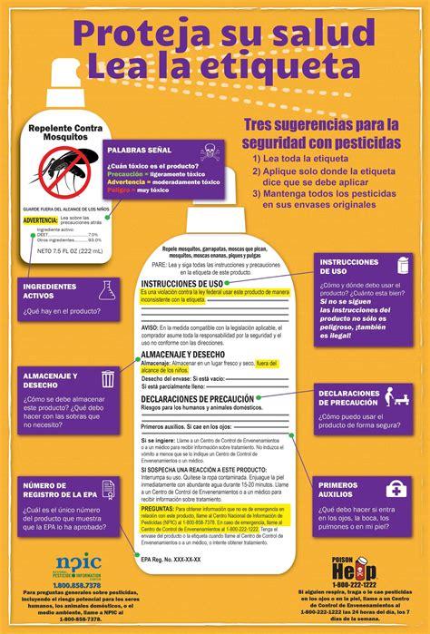 lectura de etiquetas de pesticidas