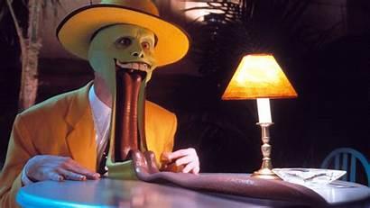 Comedy Jim Carrey Mask Tongue Suit Movies