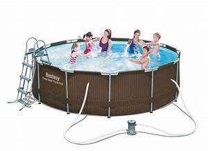 Frame Pool 366 : bestway rattan frame pool 366 x 100 cm m filter pumpe stige udg et ~ Eleganceandgraceweddings.com Haus und Dekorationen