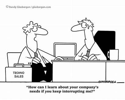 Sales Cartoons Selling Listen Cartoon Funny Objections