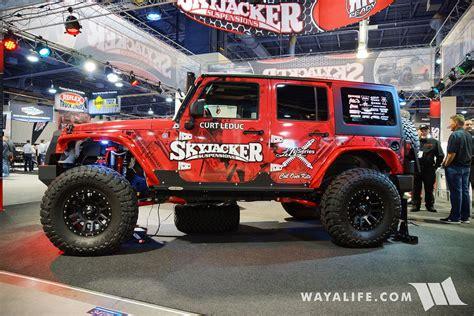 2016 SEMA : Skyjacker Red Jeep JK Wrangler Unlimited