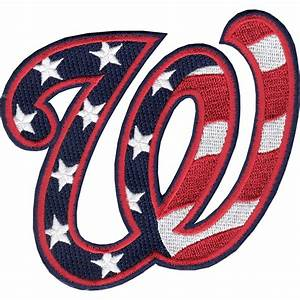 Washington Nationals 'W' Hat Logo Patch (Stars and