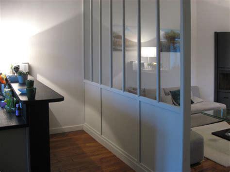 cloison vitree cuisine salon cloison vitre bois meubles et boiseries