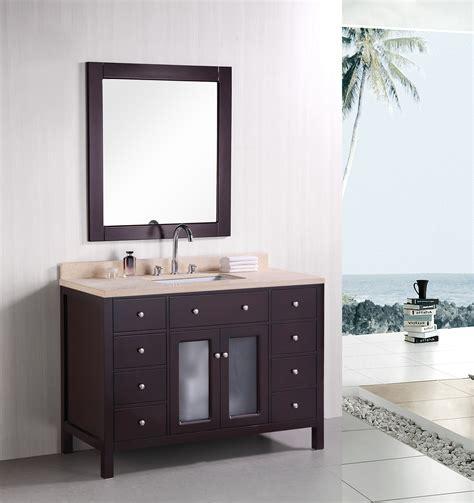 single sink vanity to double sink adorna 48 inch contemporary single sink bathroom vanity