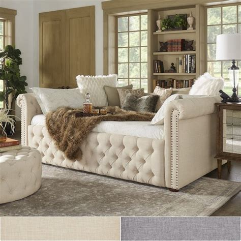 shop knightsbridge queen size tufted chesterfield daybed