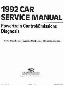 1992 Ford Festiva Repair Shop Manual Original
