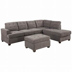 Sectional sofa with chaise lounge microfiber knowledgebase for Sofas and sectionals