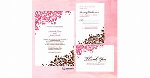 pink and brown foliage wedding invitation free printable With pop up wedding invitations australia