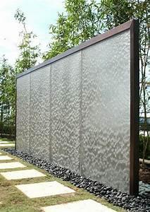 sichtschutz aus glas die neusten tendenzen in 49 bilder With französischer balkon mit trennwand garten stein