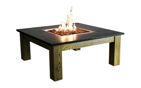 Montego fire table package includes: Elementi Clinton Fire Pit Coffee Table | Gardenlines