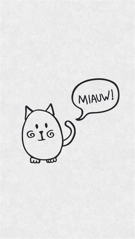 Simple Lock Screen Wallpaper by Simple Cat Doodle Iphone Lock Screen Wallpaper Panpins