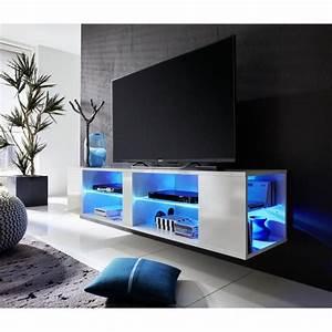 Meuble Tv Suspendu Led : meuble tv suspendu led id es de d coration int rieure french decor ~ Melissatoandfro.com Idées de Décoration