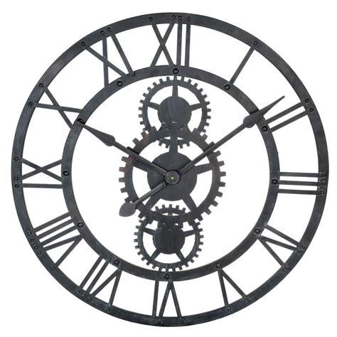 maison du monde ambiance industrielle horloge en metal noire   cm temps modernes dimensions