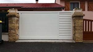 Portail Coulissant Automatique : portail aluminium coulissant grenoble alproconcept ~ Premium-room.com Idées de Décoration