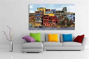 Tableau Moderne Salon : tableau xxl favelas izoa ~ Teatrodelosmanantiales.com Idées de Décoration