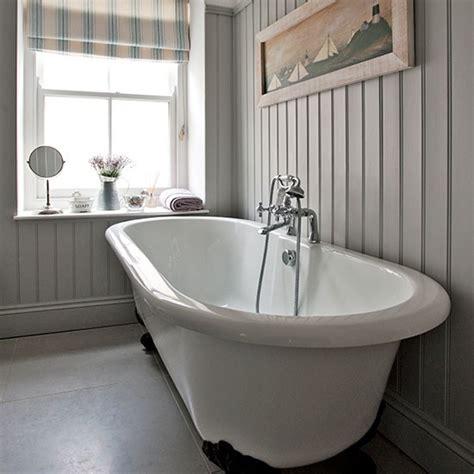 Bathroom Ideas Roll Top Bath by Grey Bathroom With Roll Top Bath Step Inside This Modern