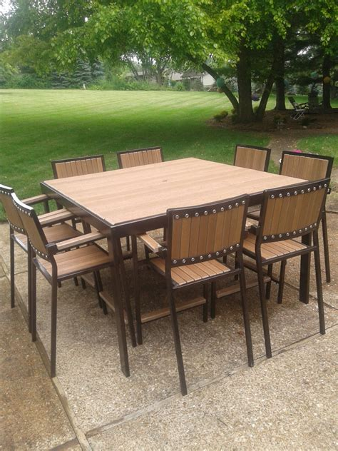 industrial style patio or deck set table and chairs
