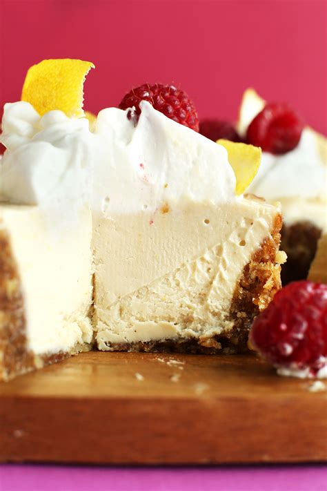 white chocolate lemon cheesecake minimalist baker recipes