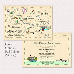illustrated map party or wedding invitation by cute maps With sample wedding invitation maps