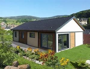 maison de plain pied avec bardage canexel nos maisons With plan de maison cubique 3 maison bois cubique 224 toit plat nos maisons ossatures bois