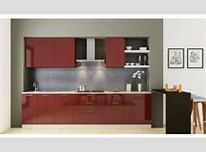 Straight Indian style modular kitchen design for small kitchen