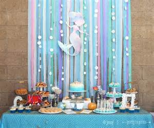 Mermaid Baby Shower Decorations Picture