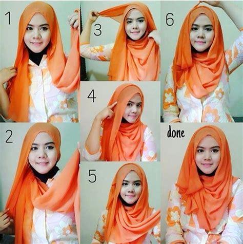 latest tutorial hijab segi empat casual ideas hijabiworld
